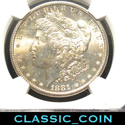 1881-S Morgan Silver Dollar $1 Ngc Ms64 San Francisco Toned Free Shipping