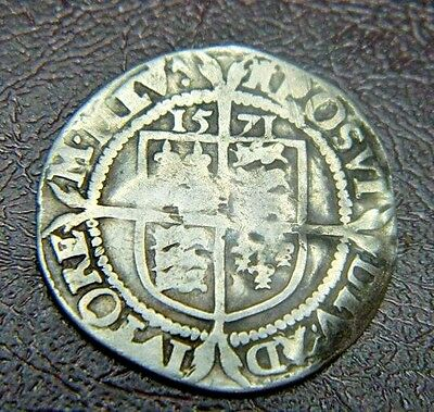 Tudor 1571 Elizabeth 1St Silver Sixpence Mm Castle,rose Beside Bust,*** (3)