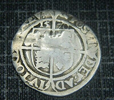 Tudor Period 1570 Elizabeth 1St Silver Sixpence Mm Coronet,rose Beside Bust ,