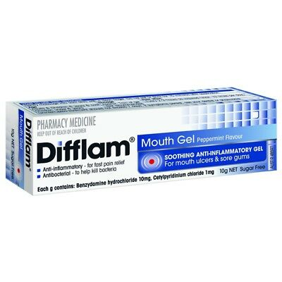 Difflam Anti Inflammatory Mouth Gel 10G NEW Cincotta Chemist
