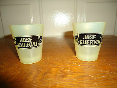 2 Jose Cuervo Plastic Shot Glasses