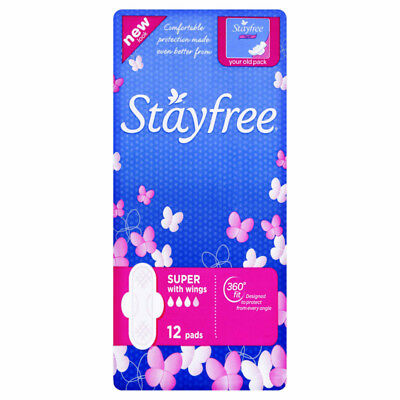 Stayfree Cotton Soft Wing Super 12 NEW Cincotta Chemist