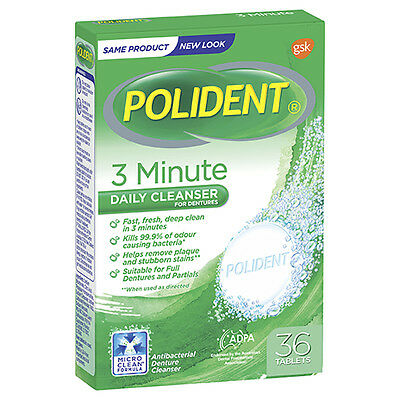 Polident Fresh Active Tablets 36 NEW Cincotta Chemist