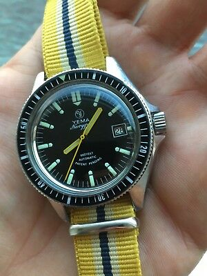 Yema Navygraf Automatic Vintage Mens Diver Watch