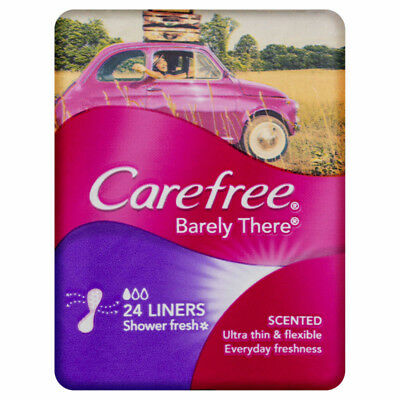 Carefree Panty Liner Barely Scented 24 NEW Cincotta Chemist