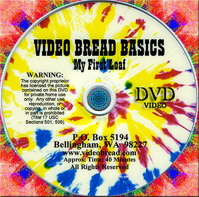 DVD BREAD BAKING BASICS recipes cooking oven pan making 789