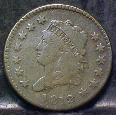 1812 Classic Head Large Cent Id#mm490