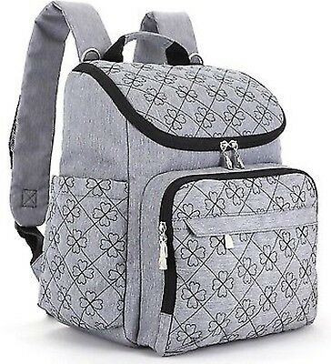 NWT Diaper Bag Backpack With Baby Stroller Straps By HYBLOM, Stylish Travel