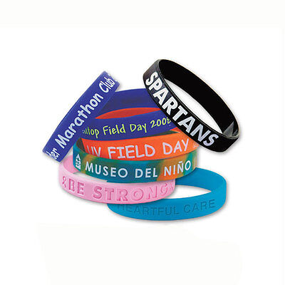SILICONE AWARENESS BRACELETS - 500 quantity - Custom Printed with Your Logo