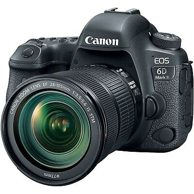 Canon EOS 6D Mark II DSLR 26.2MP Camera with 24-105mm f/3.5-5.6 IS STM Lens