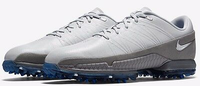 New Mens 8 NIKE Air Zoom Attack Platinum Grey Blue Golf Shoes $170 853739-001