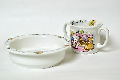 NIB 3 Piece Set Royal Doulton Winnie the Pooh Christening Collection Baby Bowl