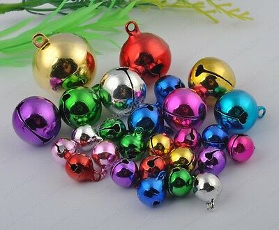 Mixed colors Jingle Bells Beads Findings 6MM 8MM 10MM 12MM-18MM 20MM 25MM
