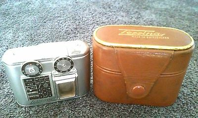 TESSINA  Vintage  35mm Half Frame Subminiature Camera with Leather Case