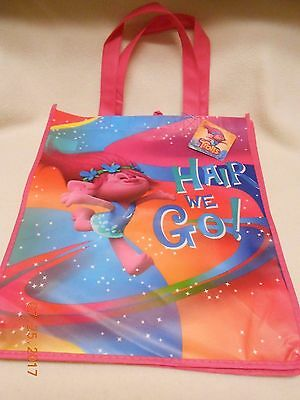New Trolls big reusable kids shopping tote bag for back to school Hair we go!