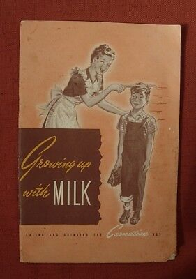 1948 CARNATION CO Booklet GROWING UP WITH MILK Recipes
