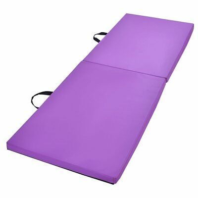 New  2'x6'x1.5'' Gymnastics Mat Thick Two Folding Panel Gym Fitness Exercise