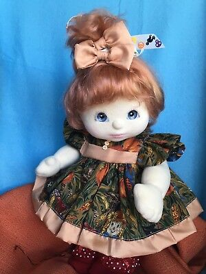 DOLL IS NOT INCLUDED ~ Puffed,wide Dress,knickers,hair Bows Only