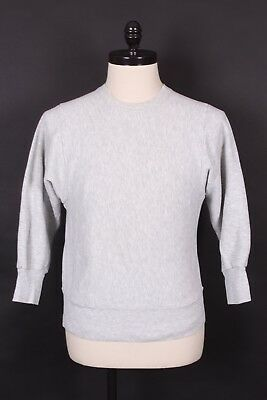 Vtg Champion Reverse Weave Gray Cotton Sweatshirt Mens Size Small Usa