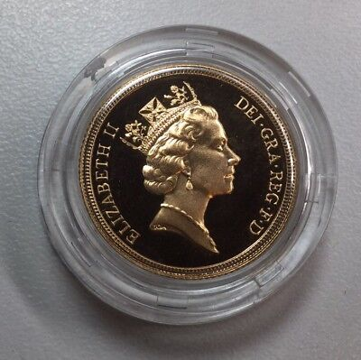 Great Britain 1987 GEM Proof Full 1 Sovereign Gold Coin UK George & Dragon