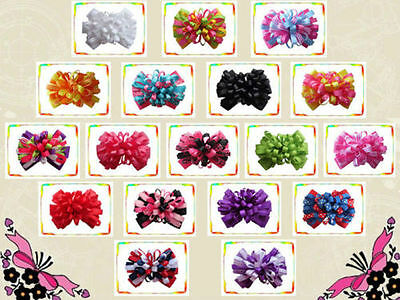 "50 BLESSING Good Girl Boutique 4"" Fireworks Hair Bow Clip Accessories No. 177"