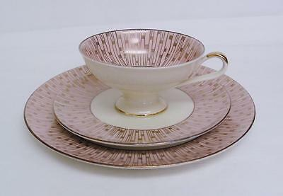 Vintage Alka Bavaria Trio Cup Saucer Plate - Retro Pink & Gold  - Germany