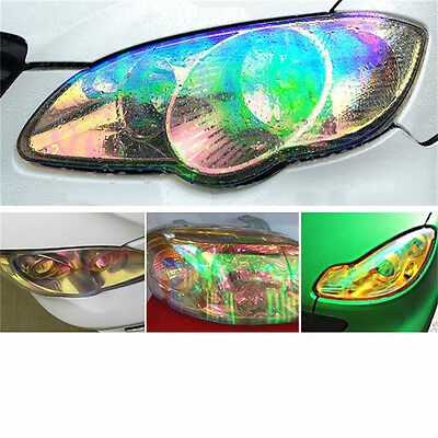 "12""x39"" Chameleon Car SUV Headlight Taillight Vinyl Tint Lamp Film Wrap Colorful"
