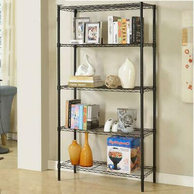 4/5 Layer Wire Shelving Rack Metal Shelf Adjustable Unit Garage Storage