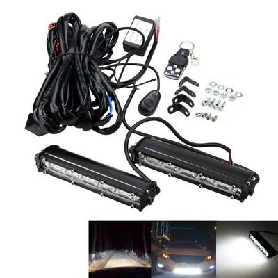 "7"" 18W LED Work Light Bar 4WD Offroad Spot Fog ATV SUV Driving Lamp+Wiring Kit"