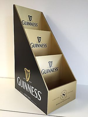 "Guinness Bottle Glorifier Glass Display Stand Organizer NEW FS  21"" X 13"" X 8.5"""