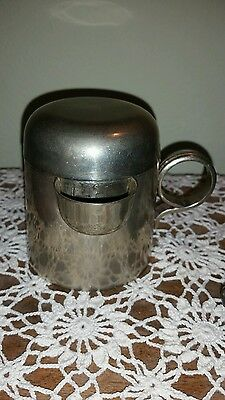 Vintage Lidded Cup with spout German Silver Paco's Monterrey