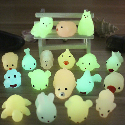 Creative Animal Squishy Night Light Stress Relief Squeeze Toy Elastic Kids Gifts