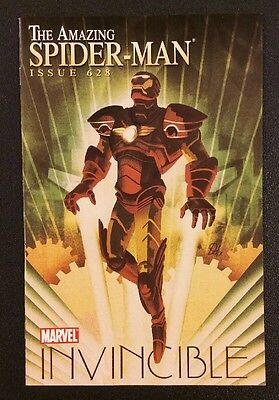 AMAZING SPIDER-MAN #628 Comic Book 1:15 Iron Man by Design DEL MUNDO VARIANT