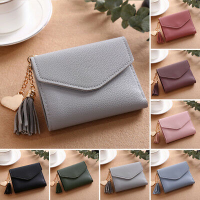 New Girl Women Mini PU Leather Wallet Purse Credit ID Card Holder Coin Money Bag