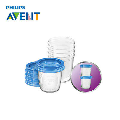 Philips Avent Via Breast Milk Storage Containers Cups With Lids 180Ml X 5 Pack