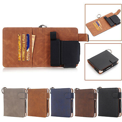 Luxury For iQOS Electronic Cigarette Kit Leather Wallet Case Pouch Bag  Keychain