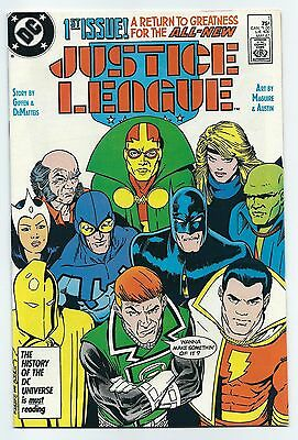 Justice League 1 1987 First Appearance of Maxwell Lord VF