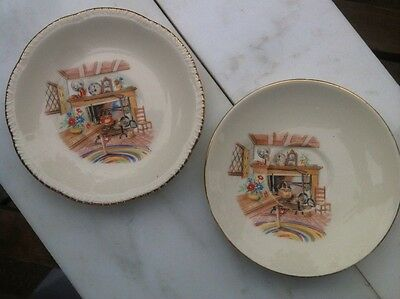 2 Homer Laughlin Rhythm Open Hearth Saucers,A Set Of 2, They Differ