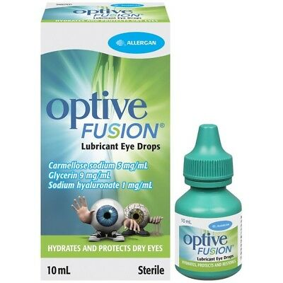 Optive Fusion Eye Drops 10ML NEW Cincotta Chemist