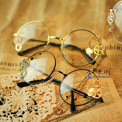 Japanese VINTAGE Harajuku Gothic Lolita Gears Decorate Steampunk DIY Glasses