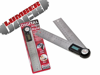 Lumberjack DAR200 200mm Digital Angle Finder Steel Rule Trend 400mm