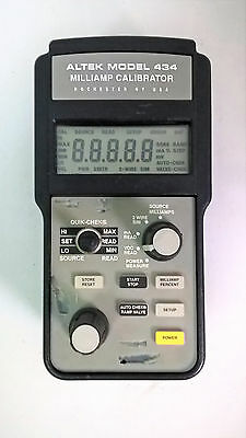 Altek 434 Milliamp Calibrator Professional Process Loop Calibrator Works Great