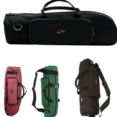 New Durable Lightweight Cloth Trumpet Case Big Black/ Light Red /Atrovirens UK