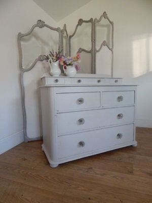 Antique painted Victorian chest of drawers