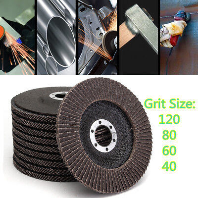 Angle Grinder Flap Sanding Disc 5'' 125mm 40-120 Grit Grinding Wheels 10/40Pcs