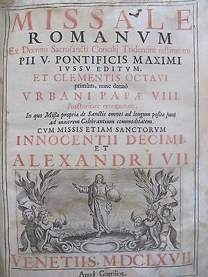1667 MISSALE ROMANUM + messe Campania + manoscritto Molise