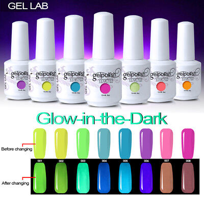 Nail Art Glow in the Dark UV Fluorescent Pigment Gel Polish Colour Change 15ml