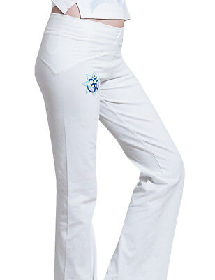 a4e7f3052358b0 Yogamasti Women's Cotton Hand Painted Om Shanti Yoga Pants Super Comfortable