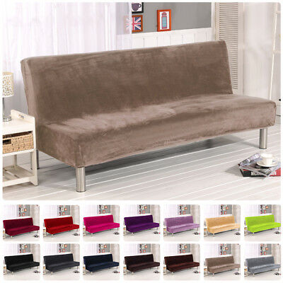 New Folding Armless Sofa Futon Cover Furniture Seater Protector Couch Slipcovers