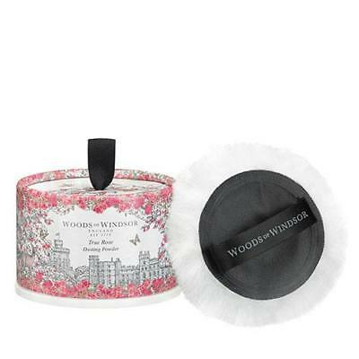 Woods Of Windsor True Rose 100g Dusting Powder With Puff